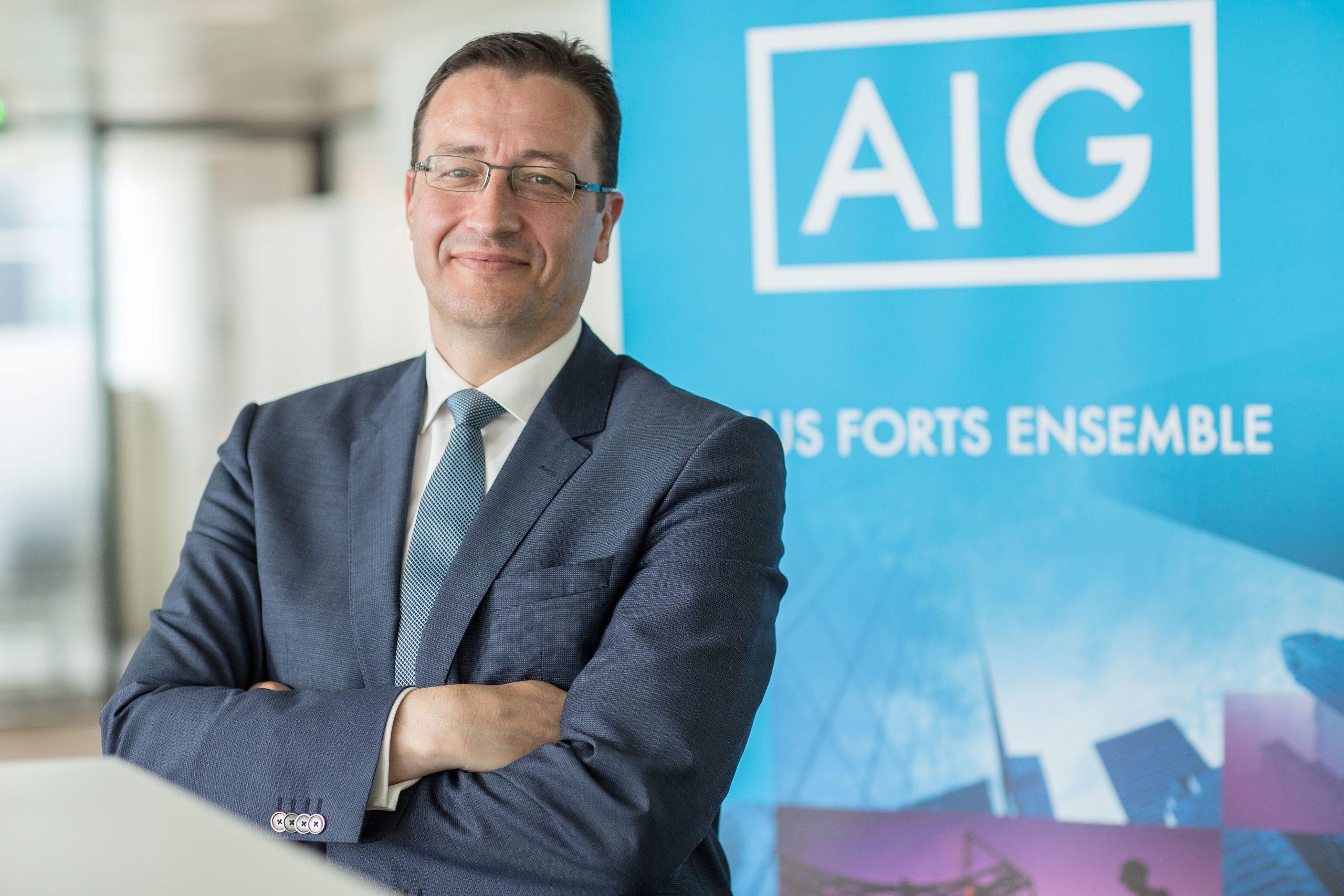 Portrait corporate dirigeant AIG